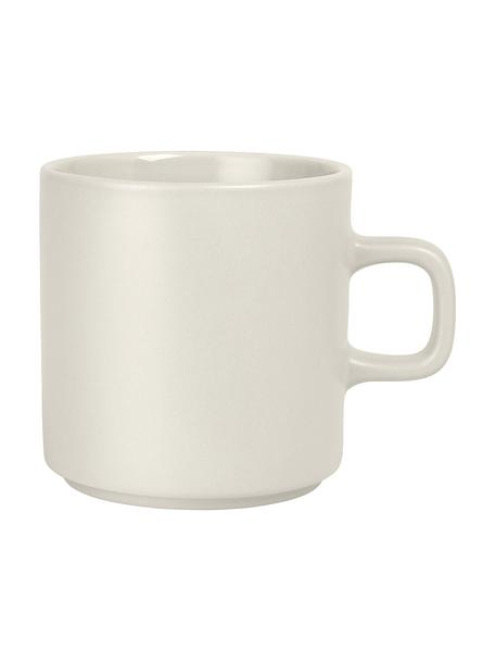Kaffeetassen Pilar in Beige matt/glänzend, 6 Stück, Keramik, Beige, Ø 9 x H 9 cm