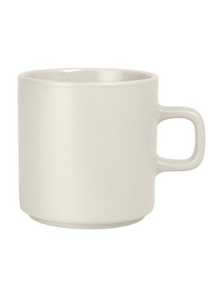 Tazza caffè color beige opaco/lucido 6 pz, Ceramica, Beige, Ø 9 x Alt. 9 cm