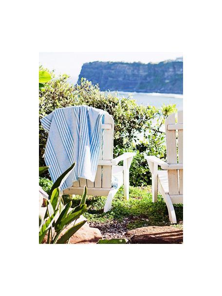 Acaciahouten tuin loungestoel Charlie in wit, Massief geolied acaciahout en gelakt, Wit, B 93  x D 74 cm