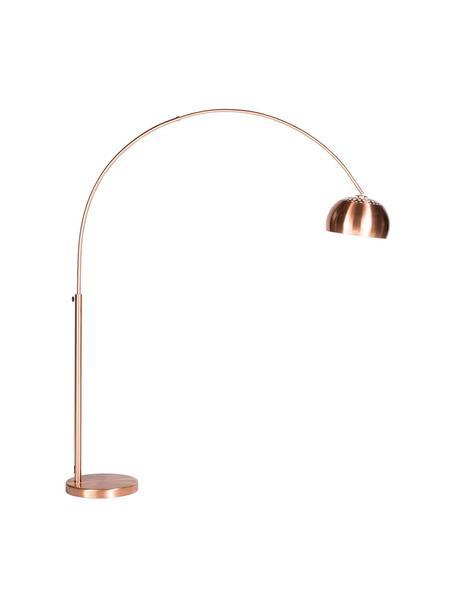 Bogenlampe Metal Bow in Kupfer, Lampenschirm: Metall, verkupfert, Gestell: Metall, verkupfert, Kupfer, 170 x 205 cm