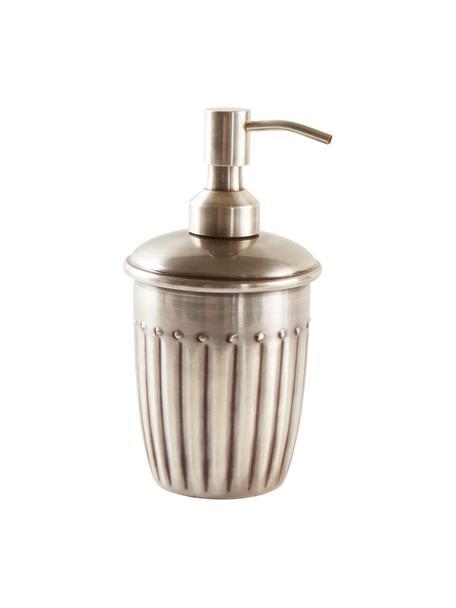 Dispenser sapone Alida, Metallo, Argentato, Ø 9 x Alt. 14 cm