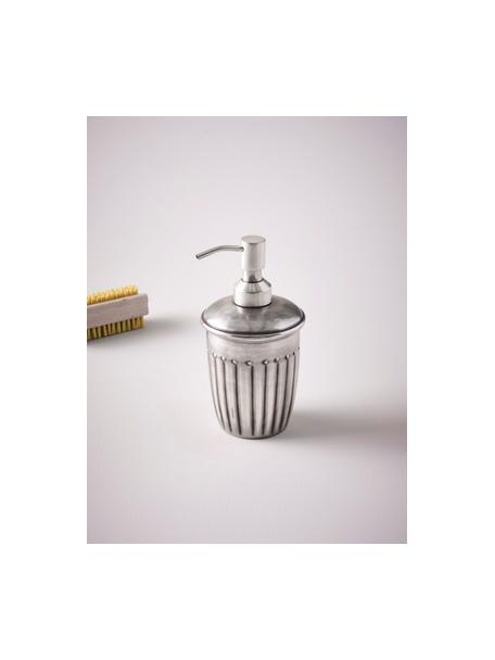 Dosificador de jabón Alida, Metal, Plateado, Ø 9 x Al 14 cm