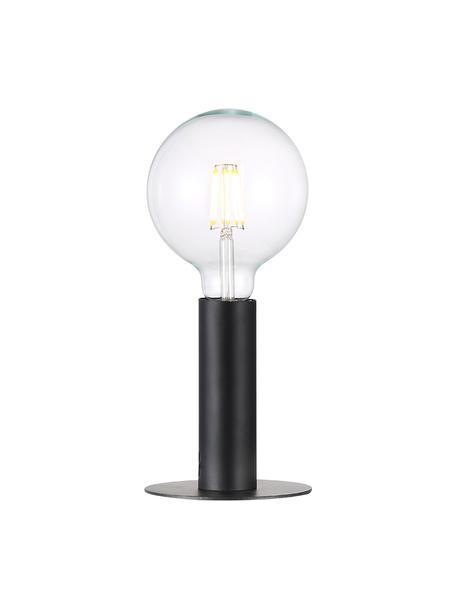 Kleine tafellamp Dean van metaal, Lampvoet: gelakt messing, Zwart, Ø 13 x H 15 cm