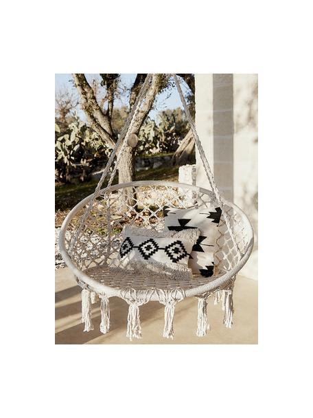 Federa arredo etnica Cancun, 100% cotone, Nero, beige, Larg. 45 x Lung. 45 cm