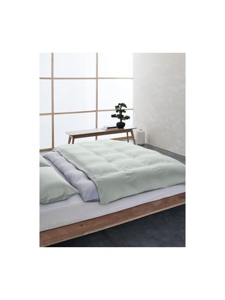 Bambus-Bettwäsche Skye in Salbeigrün, 55% Bambus, 45% Baumwolle Fadendichte 400 TC, Premium Qualität Bambus ist hypoallergen und antibakteriell. Daher eignet das Material sich hervorragend für empfindliche Haut. Es ist amungsaktiv und absorbiert Feuchtigkeit, um so die Körpertemperatur im Schlaf zu regulieren., Salbeigrün, 135 x 200 cm + 1 Kissen 80 x 80 cm