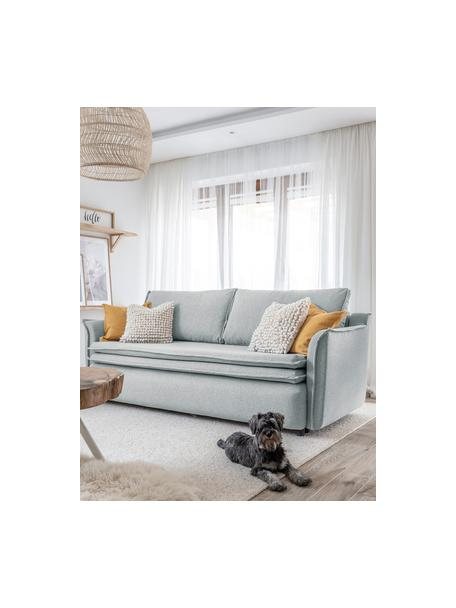 Sofá cama Charming Charlie, con espacio de almacenamiento, Tapizado: 100%poliéster tacto de l, Gris, An 225 x F 85 cm