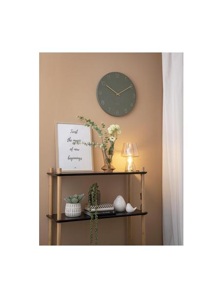 Reloj de pared Charm, Metal recubierto, Verde, latón, Ø 40 cm