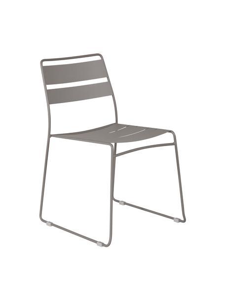Krzesło ogrodowe z metalu Lina, Szary, S 47 x G 55 cm