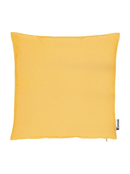 Cuscino bicolore da esterno con imbottitura St. Maxime, Giallo, nero, Larg. 47 x Lung. 47 cm