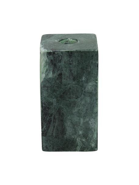 Candelabro Martha, Porcellana, Verde, Larg. 6 x Alt. 11 cm