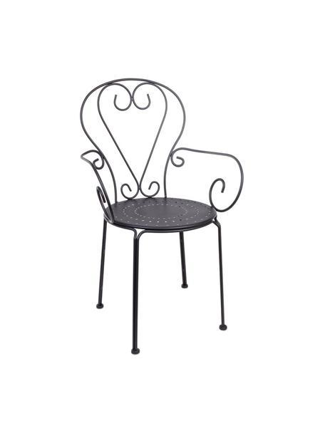 Krzesło ogrodowe z podłokietnikami Etienne, 2 szt., Ciemnyszary, S 49 x  W 89 cm
