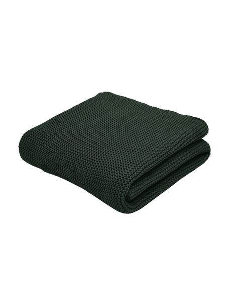 Manta de punto de algodón ecológico Adalyn, 100%algodón ecológico, certificado GOTS, Verde, An 150 x L 200 cm