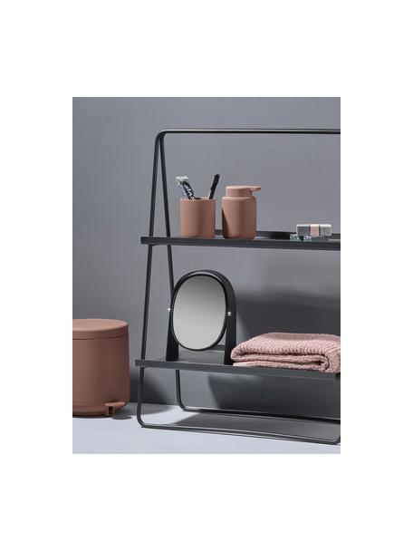 Dispenser sapone in gres Ume, Contenitore: gres rivestita con superf, Rosa cipria opaco, Ø 8 x Alt. 13 cm