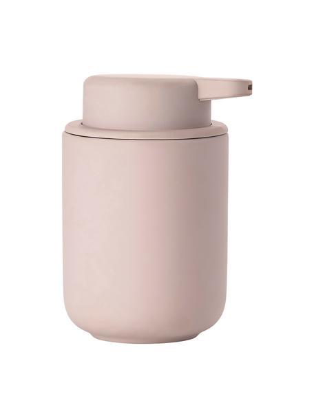 Dispenser sapone in gres Ume, Contenitore: gres rivestito con superf, Rosa opaco, Ø 8 x Alt. 13 cm