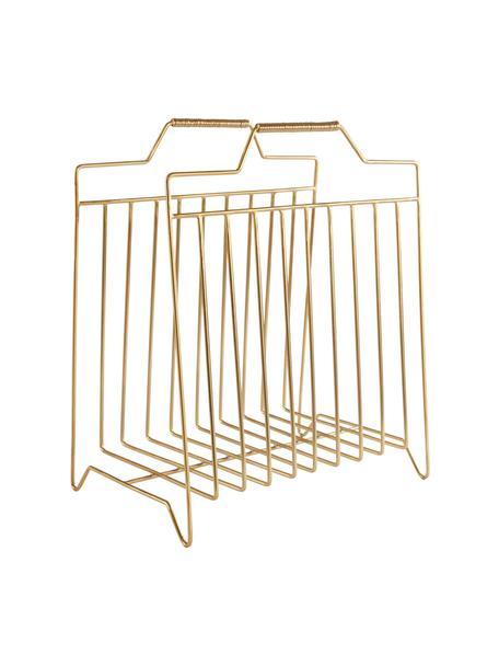 Stojak na czasopisma Maud, Metal lakierowany, Odcienie złotego, S 43 x W 36 cm