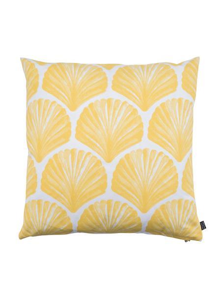 Poszewka na poduszkę Helix, Bawełna, Biały, żółty, S 50 x D 50 cm