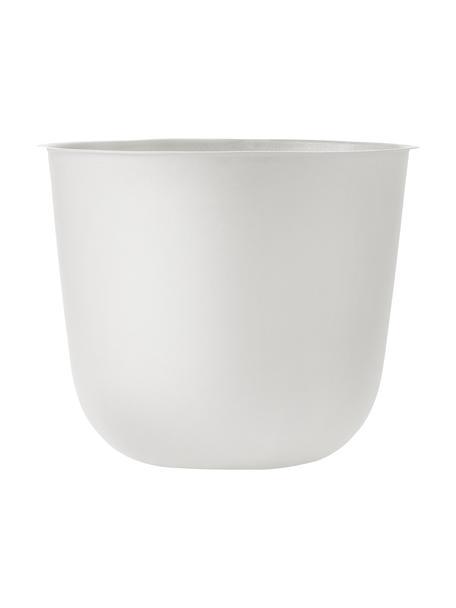 Duża osłonka na doniczkę ze stali Wire Pot, Stal malowana proszkowo, Biały, Ø 23 x 17 cm