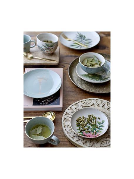 Decoratief dienblad Gardenia, Gecoat aluminium, Messingkleurig, Ø 32 x H 3 cm
