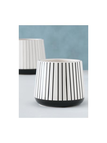 Übertopf-Set Gebby aus Stein, 2-tlg., Stein, Weiß, Set mit verschiedenen Größen
