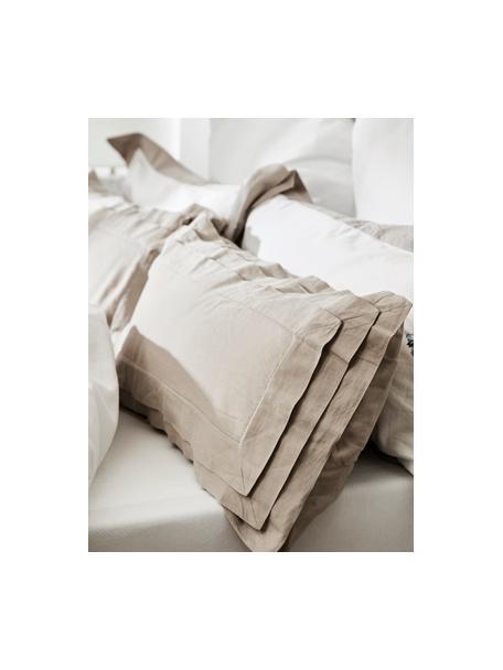 Poszewki na poduszki z lnu z efektem sprania Helena, 2 szt., Beżowy, S 40 x D 80 cm