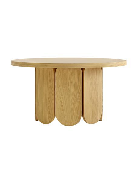 Tavolino rotondo da salotto con finitura in legno di quercia Soft, Truciolare, pannello di fibra a media densità (MDF) con finitura in quercia, Legno di quercia, Ø 79 x Alt. 41 cm