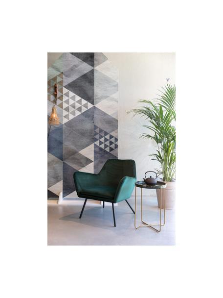 Fluwelen lounge fauteuil Bon in groen, Bekleding: 100% polyester fluweel, Frame: multiplex, rubberhout, Poten: gepoedercoat staal, Fluweel groen, 80 x 76 cm
