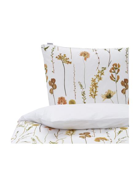 Pościel z bawełny Outside, Biały, wielobarwny, 155 x 220 cm + 1 poduszka 80 x 80 cm