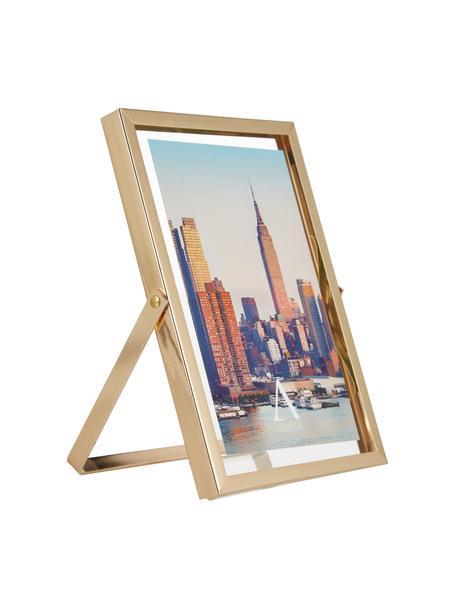 Portafoto da tavolo Marco, Cornice: metallo, Dorato, Larg. 13 x Alt. 18 cm