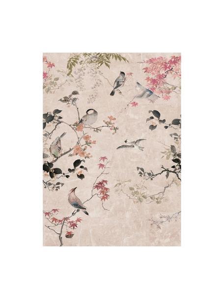 Papel pintado mural Japanese Garden, Tejido no tejido, Rosa, multicolor, An 200 x Al 280 cm