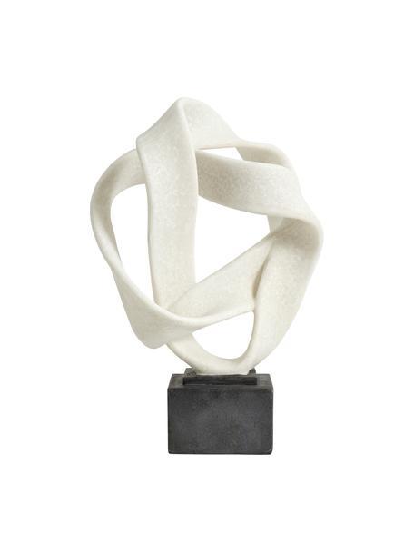 Decoratief object Rosala, Kunststof, Wit, zwart, 22 x 43 cm