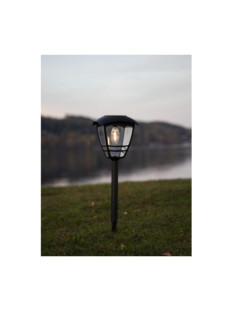 Solar padverlichting Felix, Lampenkap: acryl, Zwart, Ø 14 x H 45 cm