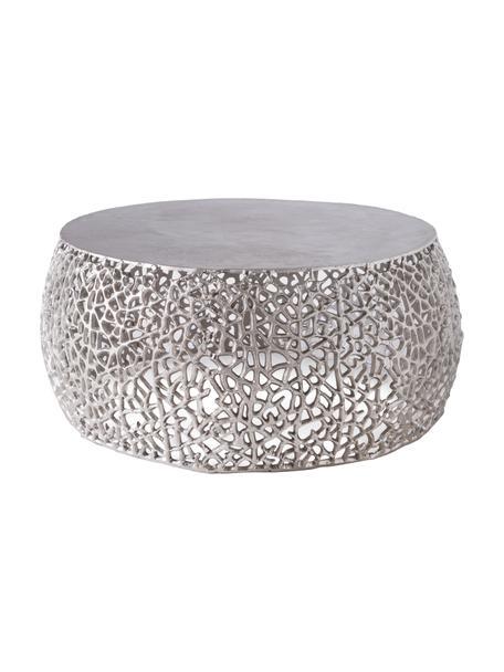 Tavolino da salotto Lua, Metallo, Argento, Ø 71 x Alt. 36 cm