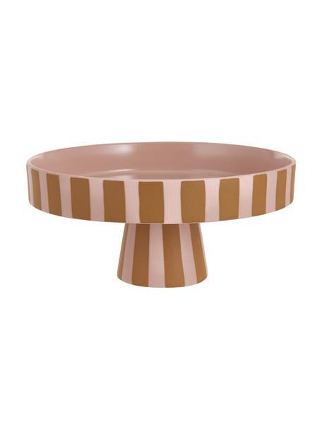 Fuente para postre de cerámicaToppu, Cerámica, Marrón caramelo, rosa, Ø 20 x Al 9 cm
