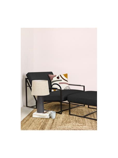 Set lounge Andy, 2pzas., Estructura: metal con pintura en polv, Tejido gris antracita, Set de diferentes tamaños