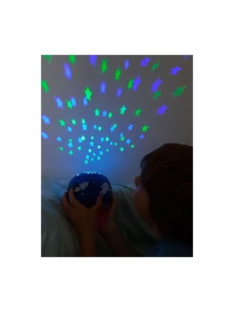 LED lichtobject Space met tijdschakelaar, Kunststof (ABS), Blauw, Ø 14 x H 9 cm