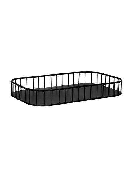 Taca do serwowania z metalu Rail, Metal, Czarny, S 40 x D 25 cm