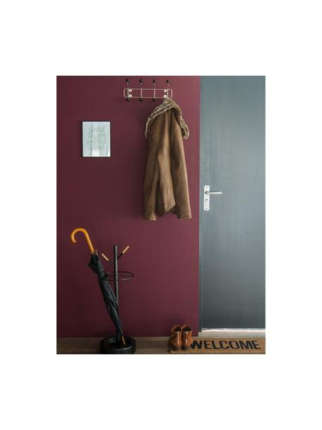 Metall-Garderobenhaken Saturnus, Gestell: Metall, lackiert, Haken: Kunststoff, Goldfarben, Schwarz, 34 x 15 cm