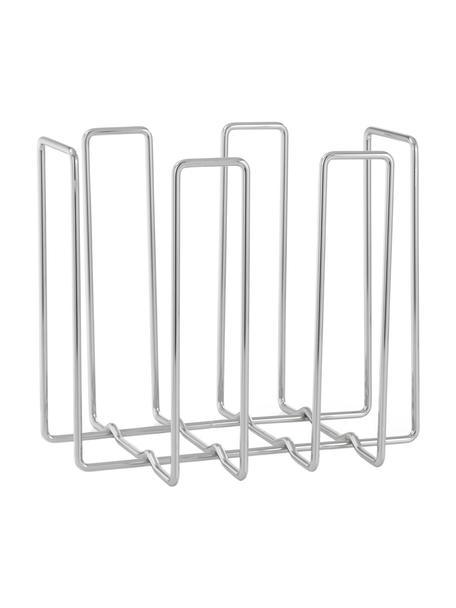 Portariviste Wires, Acciaio cromato, Cromo, Larg. 34 x Alt. 31 cm