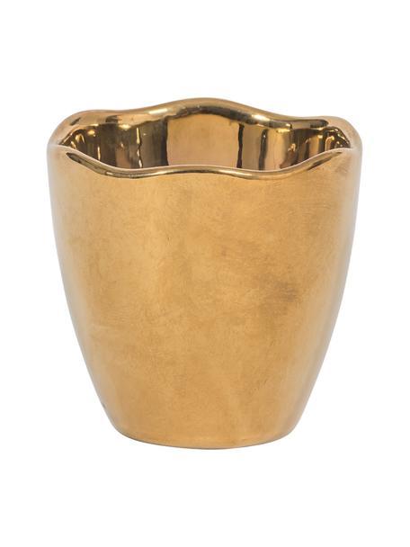 Eierbecher Good Morning in Gold, matt/glänzend, 2 Stück, Steingut, beschichtet, Goldfarben, Ø 5 x H 5 cm