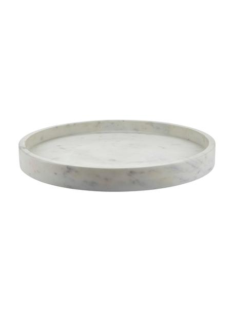 Bandeja decorativa redonda de mármol Pako, Mármol, Blanco, Ø 31 x 3 cm