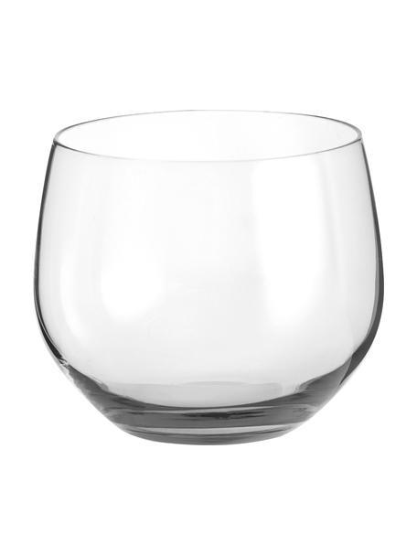 Wassergläser Spectra aus mundgeblasenem Glas, 4 Stück, Glas, mundgeblasen, Transparent, Ø 9 x H 8 cm