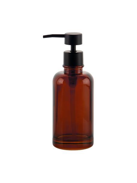 Dosificador de jabón Dorsey, Recipiente: vidrio, Dosificador: plástico, Marrón, negro, Ø 7 x Al 19 cm