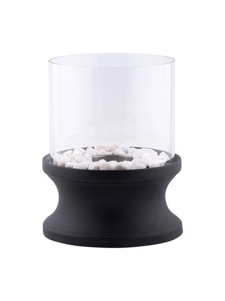 Bio-ethanol tafelhaard Clive, Voetstuk: gelakt metaal, Zwart, Ø 21 x H 33 cm