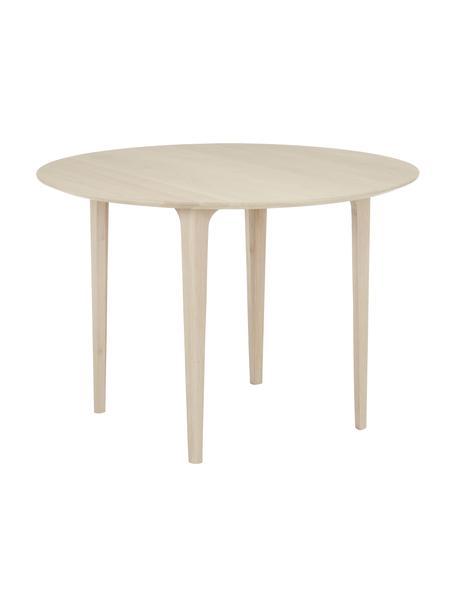 Tavolo rotondo in legno di quercia Sonoma massiccio Archie, Legno di quercia massiccio, laccato  100% legno FSC proveniente da foreste sostenibili, Legno chiaro, Ø 110 x Alt. 76 cm