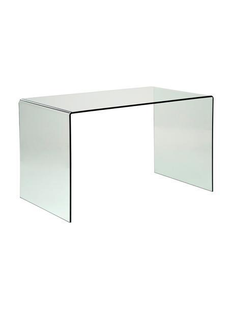 Schreibtisch Club aus Glas, Glas, Transparent, B 125 x T 60 cm
