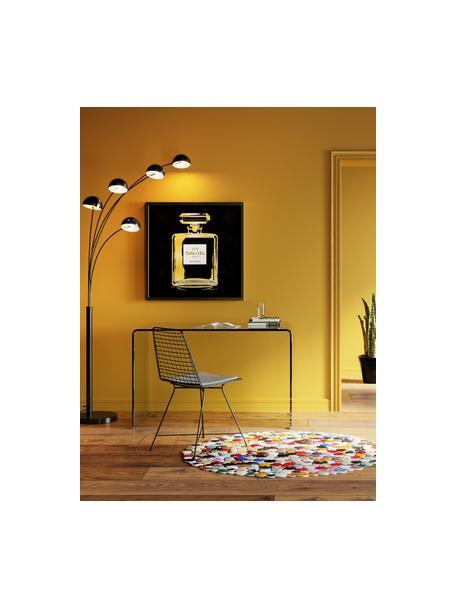 Escritorio de vidrio Club, Vidrio, Transparente, An 125 x F 60 cm