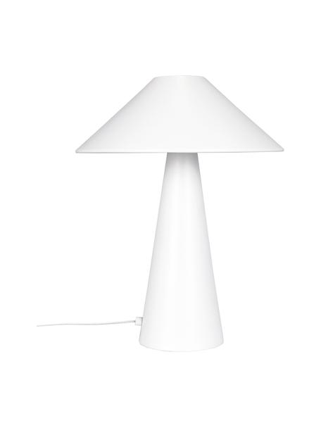 Lampada da tavolo di design Cannes, Paralume: metallo rivestito, Base della lampada: metallo rivestito, Bianco, Ø 30 x Alt. 47 cm