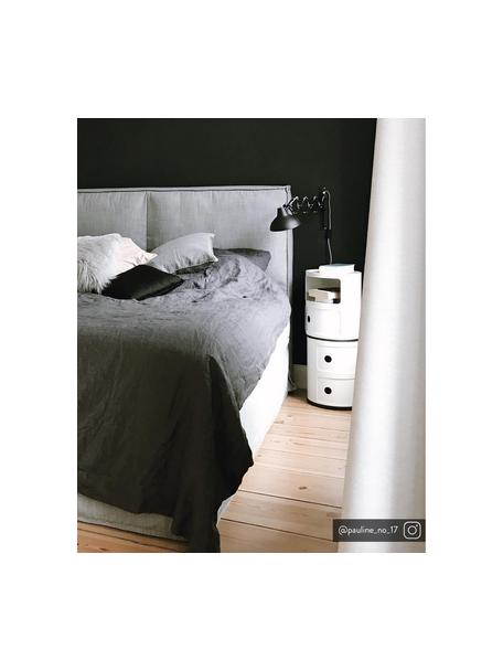 Mesa auxiliar de diseño Componibili, 3 cajones, Plástico (ABS) pintado, Blanco, Ø 32 x Al 40 cm