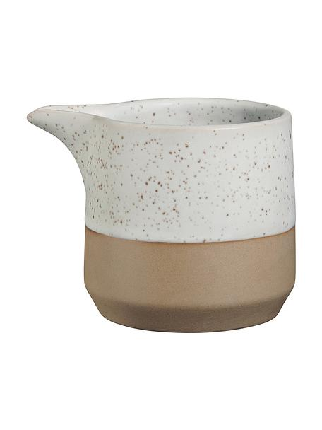 Melkkan Caja in mat bruin/beige, Keramiek, Beige, bruin, Ø 9 x H 7 cm