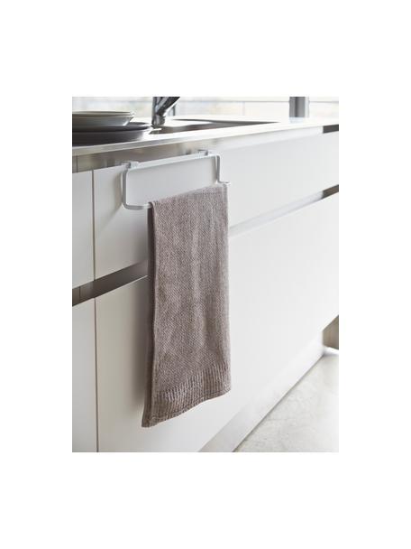 Wieszak na ręczniki Tower, Stal powlekana, Biały, S 30 x W 8 cm